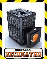 Печь-каменка в сауну «Пруток» Новаслав с выносной топкой и дверкой со стеклом