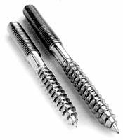 Шпилька сантехническая М8х60 (двурезьбовая, винт-шуруп) оцинкованная