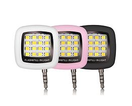 Селфи LED светодиодная подсветка / вспышка USB зарядка для смартфона с 3.5 мм jack