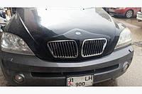 Накладка на решетку Q018 BMW-type (пластик) Kia Sorento 2004-2010 гг.