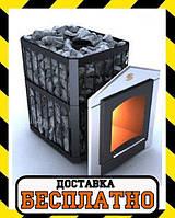 Печка для бани «Пруток-Панорама» Новаслав с выносной топкой