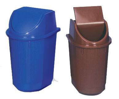 Відро для сміття з кришкою, заокруглене, 11л, Од
