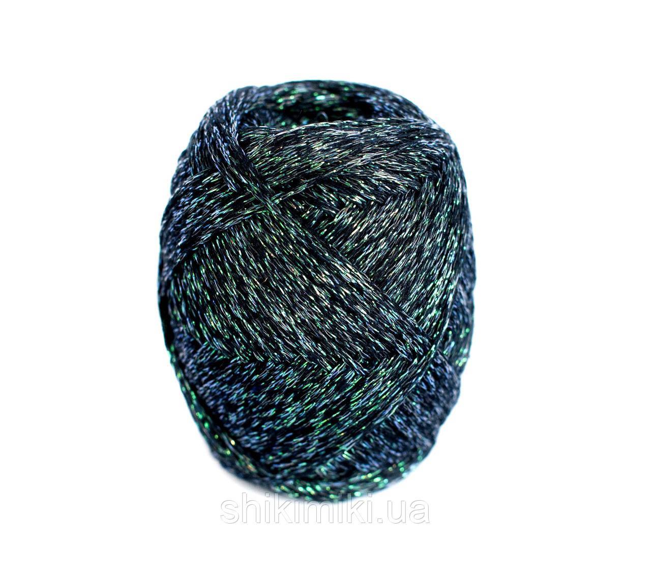 Трикотажный шнур с люрексом Knit & Shine, цвет Изумрудный