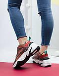 Женские кроссовки Nike M2K Tekno mahogany. Живое фото (Топ реплика ААА+), фото 3