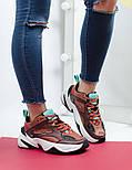 Женские кроссовки Nike M2K Tekno mahogany. Живое фото (Топ реплика ААА+), фото 5