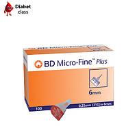 Голки для шприц-ручок BD Micro-Fine Plus 6 mm 100 шт.