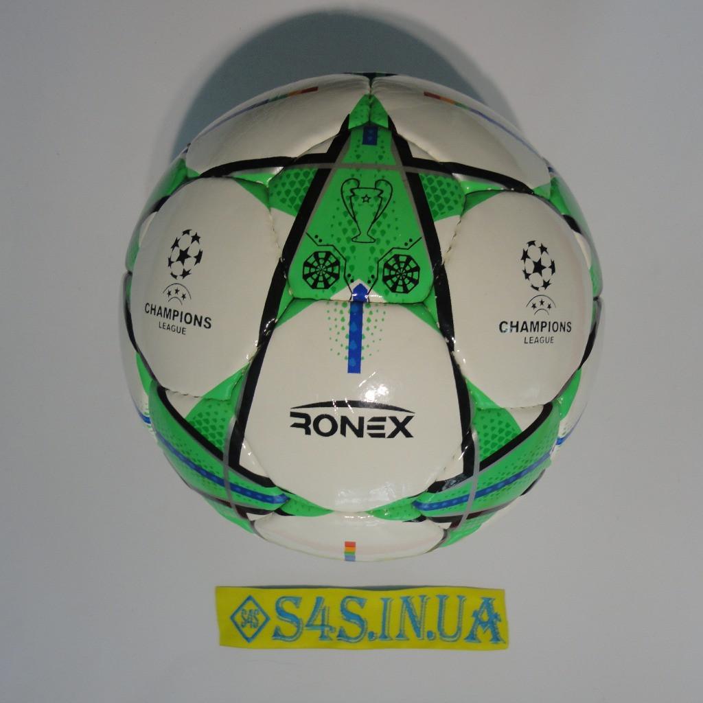 Мяч футбольный DXN Ronex FN1, зеленый, р.5, ламинированный