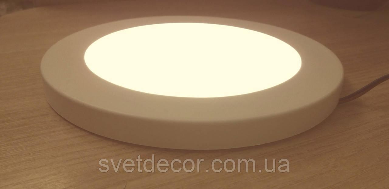 Светодиодный светильник Biom SF-R18 W 18Вт тонкий накладной