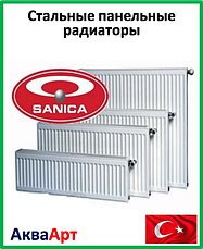 Стальные панельные радиаторы Sanica (Турция)
