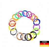 Пластик ABS+ 80м для 3D ручки (комплект 16 цветов по 5м) (Filamentworld)