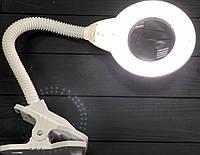 Лампа-лупа настольная на прищепке 2014 R LED