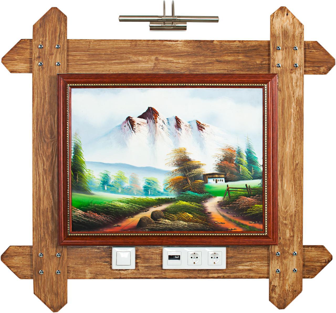 Деревянный палатный прикроватный модуль 4