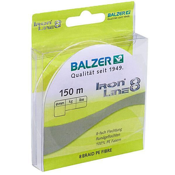 Шнур Balzer Iron Line 8x Yellow 150м 0.27мм  27,5кг (желтый)