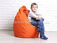 Детское кресло мешок оранжевого цвета