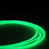 Пластик PLA 5м для 3Д ручки (светящийся в темноте зелёный) (Filamentworld)