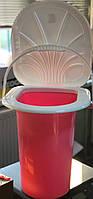 Відро  пластикове туалетне з кришкою, 17л, Од