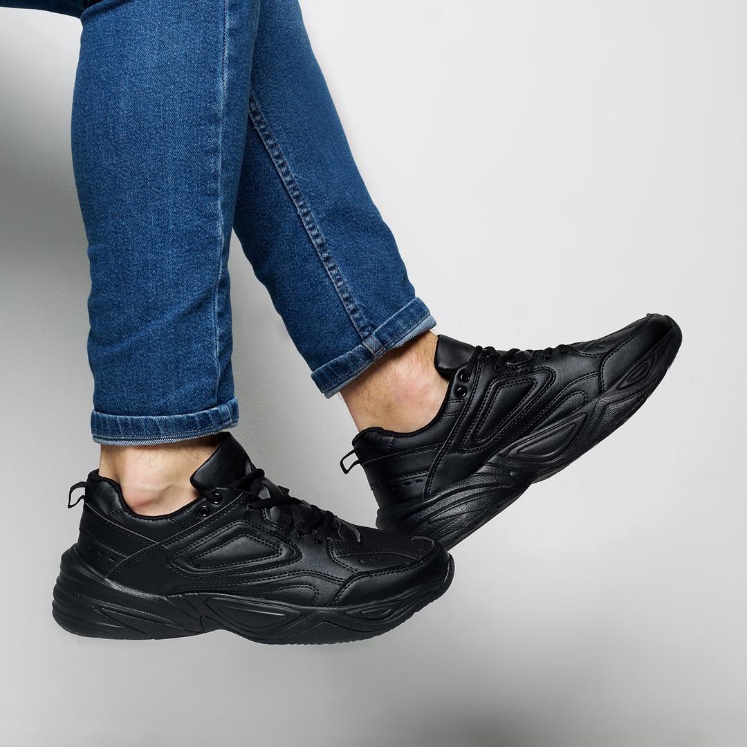 Кроссовки мужские весенние черного цвета Nike Tekno топ реплика