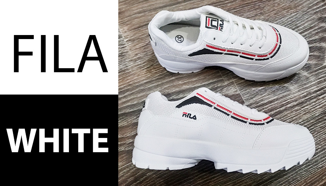 Fila Disruptor Белые с полосой кроссовки   точная Копия   женские