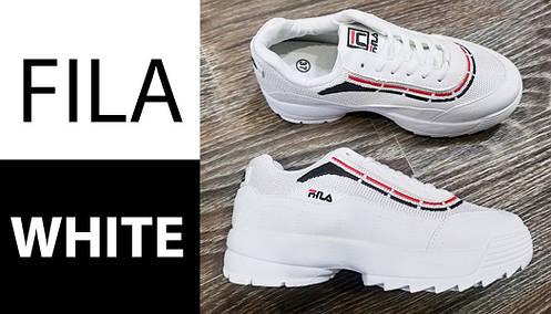 Fila Disruptor Белые с полосой кроссовки   точная Копия   женские, фото 2