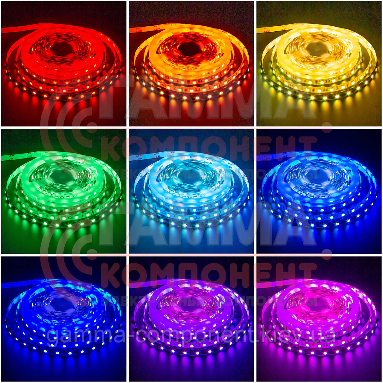 Светодиодная лента RGB SMD 5050 (30 LED/м), IP20, 12В - бобины от 5 метров