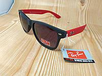 Солнцезащитные очки Ray Ban Wayfarer - черные c красными дужками