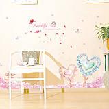 """Інтер'єрна наклейка на стіну, меблі """"Дерева Серця"""" (567321), фото 5"""