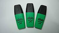 """Маркер текстовыделитель """"Emoji"""" Зеленый флуоресцентный для выделения текста .Маркер текстовый мини неоновий .Х"""