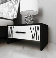 Спальня Терра (белый глянец/чёрный мат), фото 3