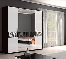 Спальня Терра (белый глянец/чёрный мат), фото 2