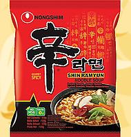 Локшина швидкого приготування, Nongshim, Рамен, Гострий, 120г, Корея, СтЮм
