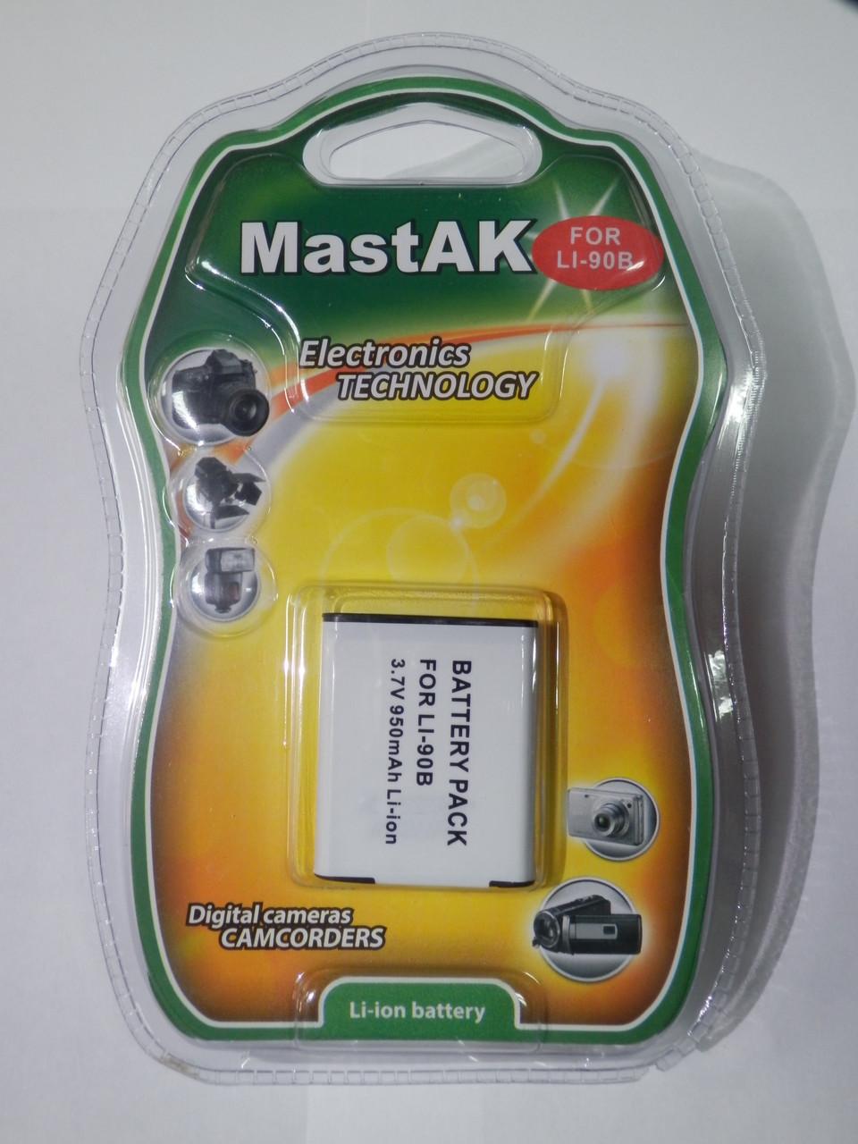 Аккумулятор к фотоаппарату Оlympus MastAK Li-90b 3,6v 950mAh