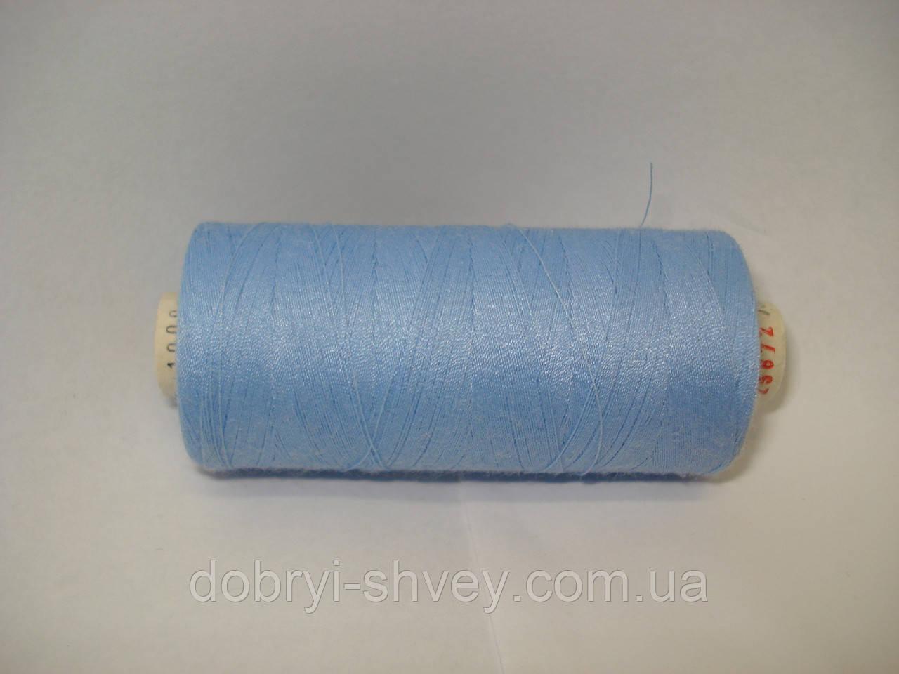 Нитка ALTERFIL №120 1000м.col 25872 насыщенно-голубой