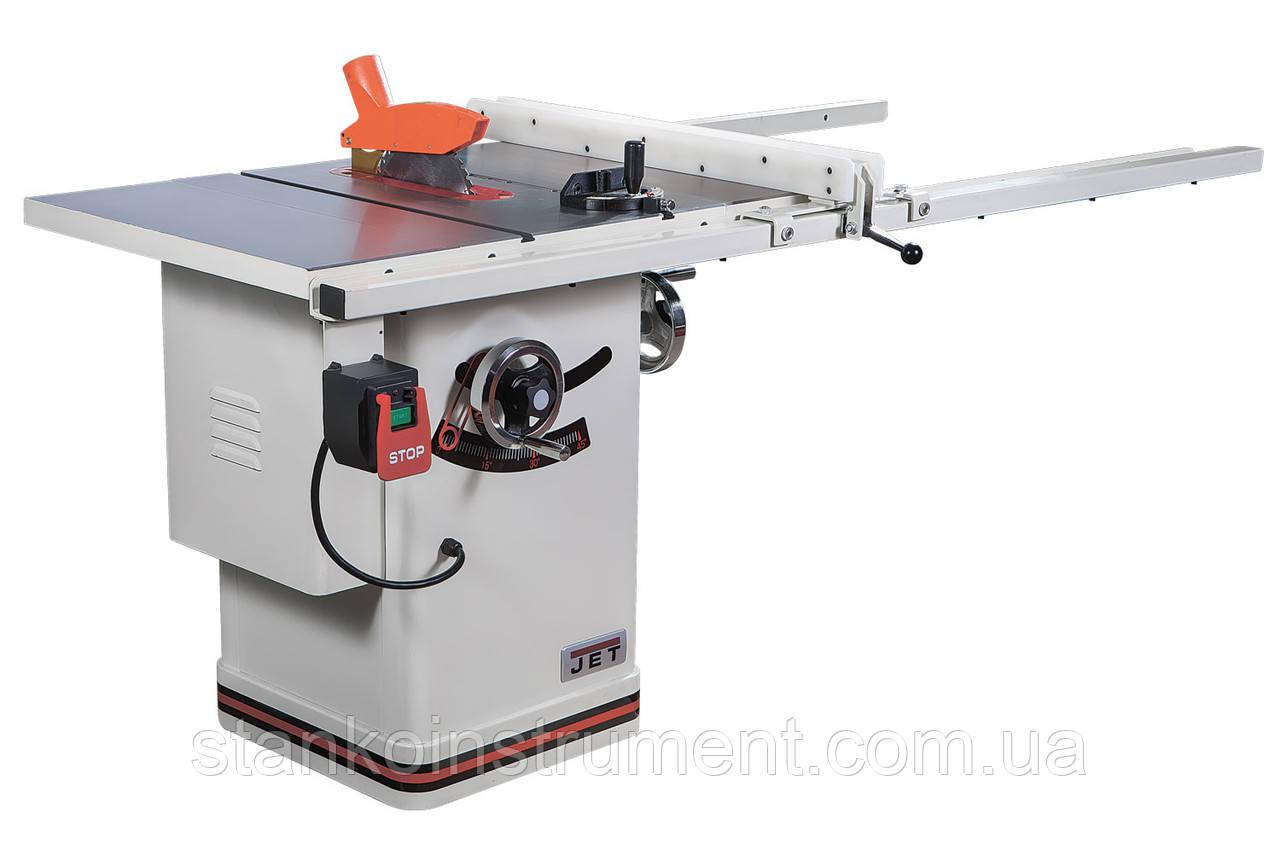 Циркулярна пилка JET JTS-250CSX 2 кВт, 380В, диск 254/30мм, глибина розпилу 80/57мм, 186кг