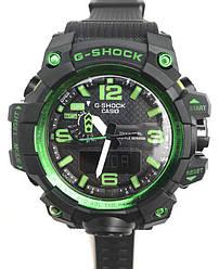 Спортивные наручные часы GWG-1000 Black Green реплика