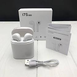Беспроводные наушники I7s TWS Bluetooth c кейсом реплика AirPod Apple 5 цветов