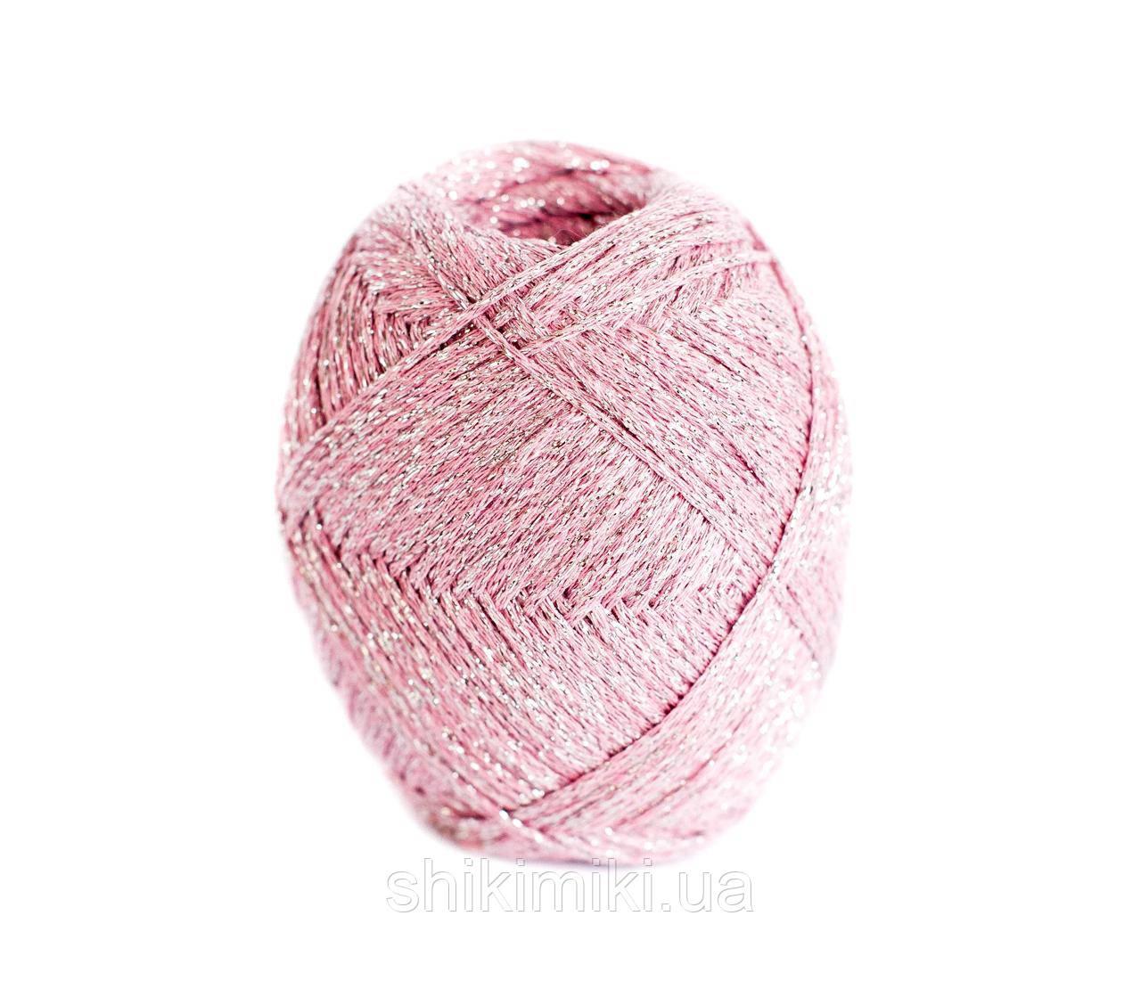 Трикотажный шнур с люрексом Knit & Shine, цвет Пудровый