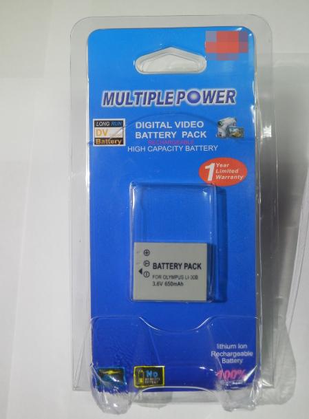 Аккумулятор к фотоаппарату Оlympus MastAK Li-30b 3,6v 650mAh