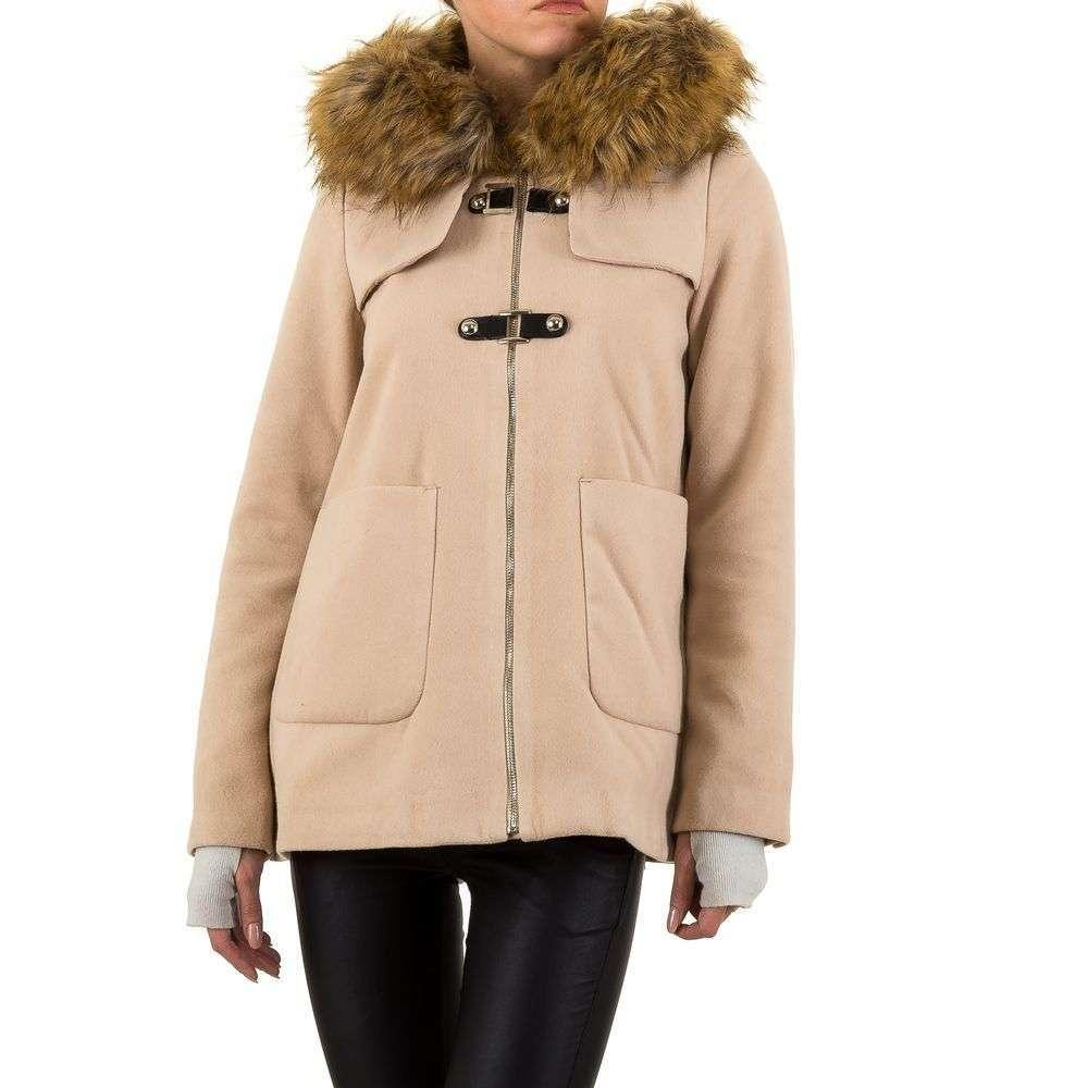 Пальто с капюшоном и мехом Noemi Kent (Франция) Бежевый