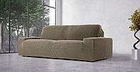 Чехол натяжной на 3-х местный диван Гламур Лен, фото 1