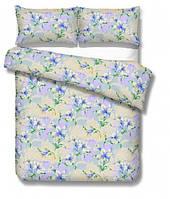 Ткань Тик наперник - Синие фиалки (M)