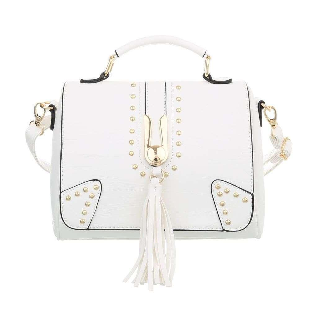 Маленькая женская сумка с заклепками (Европа) Белый