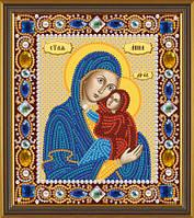 Набор для вышивки бисером Св. Анна с Младенцем Марией Д 6143