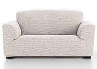 Чехол натяжной на 3-х местный диван Андреа Бежевый, фото 1