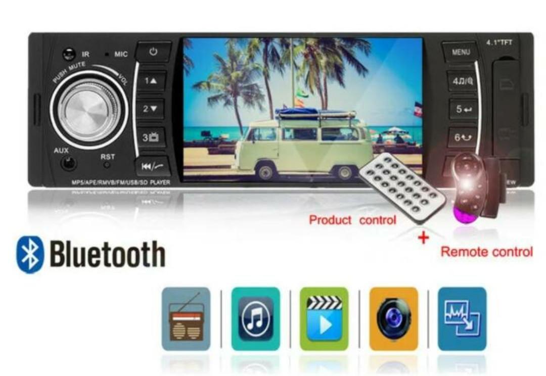 """В машину автомагнитола Pioneer 4514 с функциями Bluetooth - 4,1"""" TFT USB+SD 1 дин стильная"""