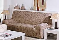 Чехол натяжной на 2-х местный диван Ванеса Мокко, фото 1