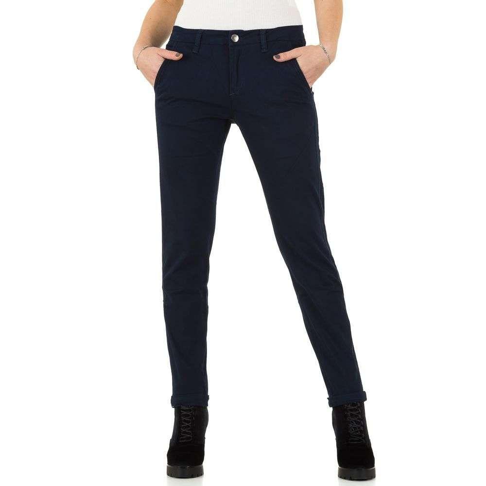 Женские брюки от Place Du Jour - marine - KL-J-92979-морской