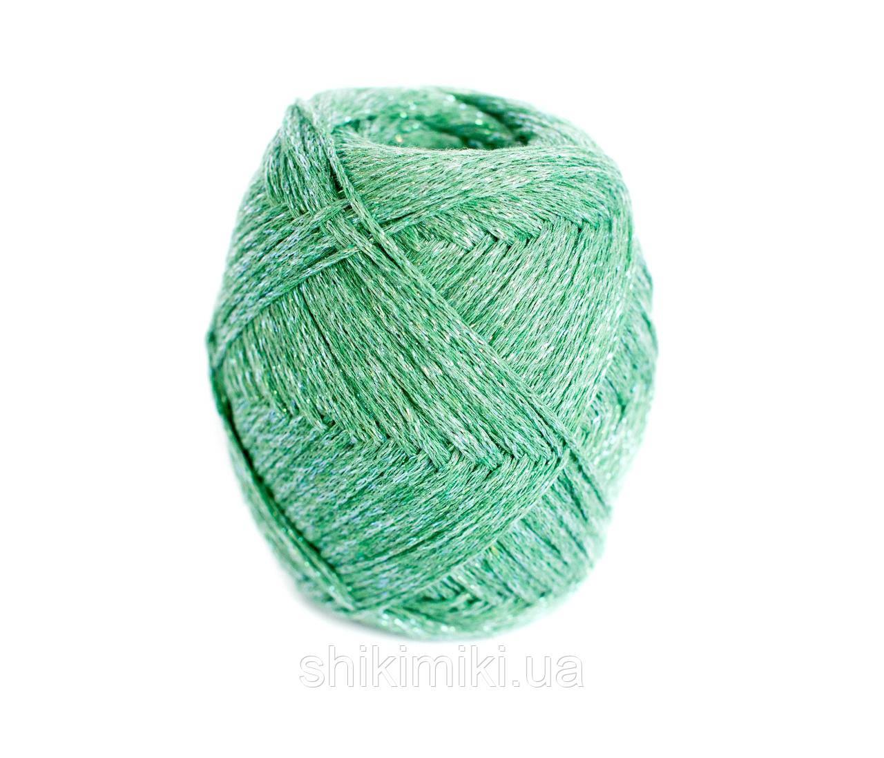 Трикотажный шнур с люрексом Knit & Shine, цвет Трава