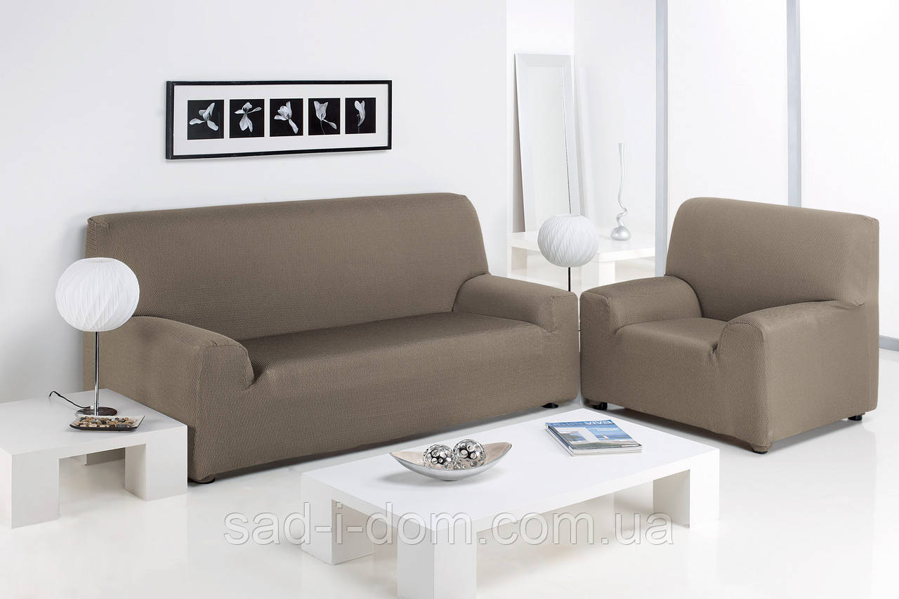 Чехол натяжной на 3-х местный диван Сандра Лен