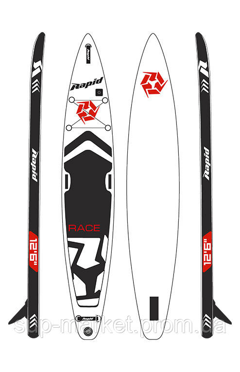 "SUP доска Rapid Race 12'6"" x 26''"