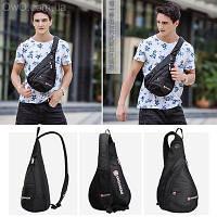 Сумка-спортивний рюкзак через плече Swiss ЧОРНА, фото 1